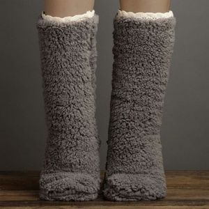 Faux Shearling Slipper Socks